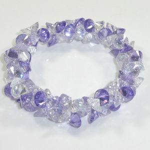 Purple Swarovski Crystal Stretch Bracelet